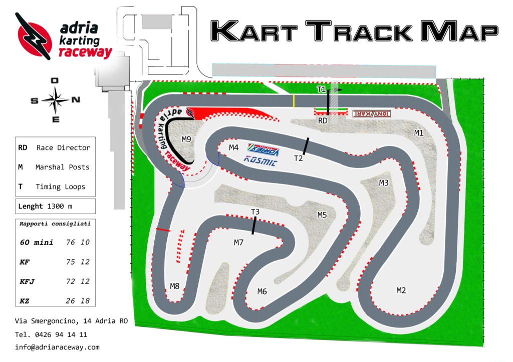 kart track map - pista kart adria international raceway